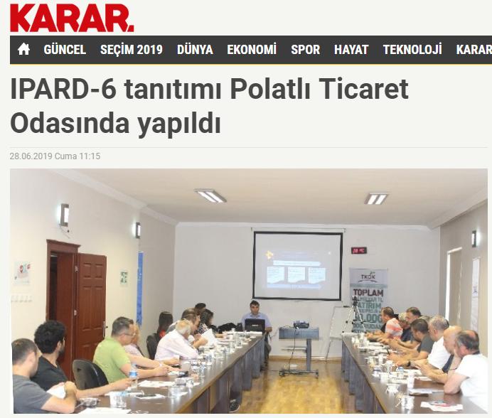 28 06 2019 ULUSAL KARAR-IPARD-6 TANITIMI POLATLI TİCARET ODASINDA YAPILDI