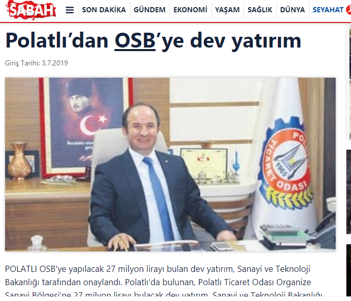 03 07 2019 Sabah-POLATLIDAN OSB YE TAM YATIRIM