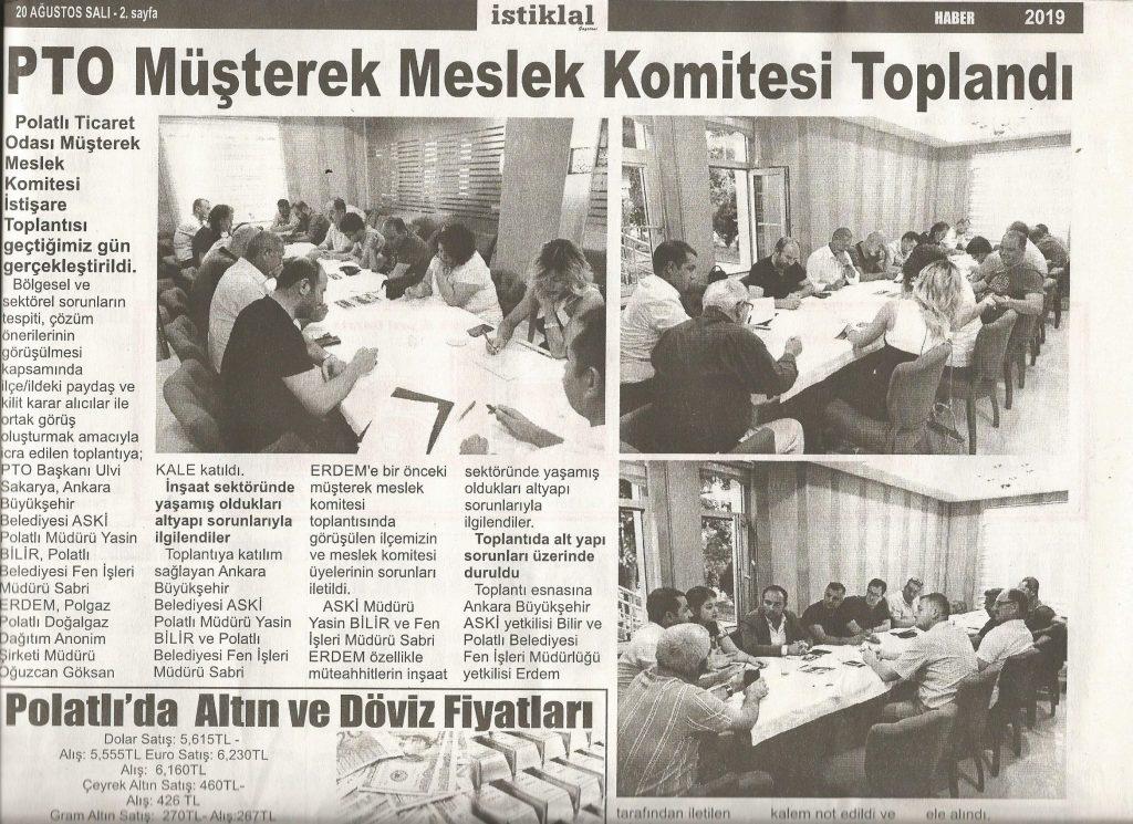 20.08.2019 istiklal gazetesi- müşterek meslek toplantısı