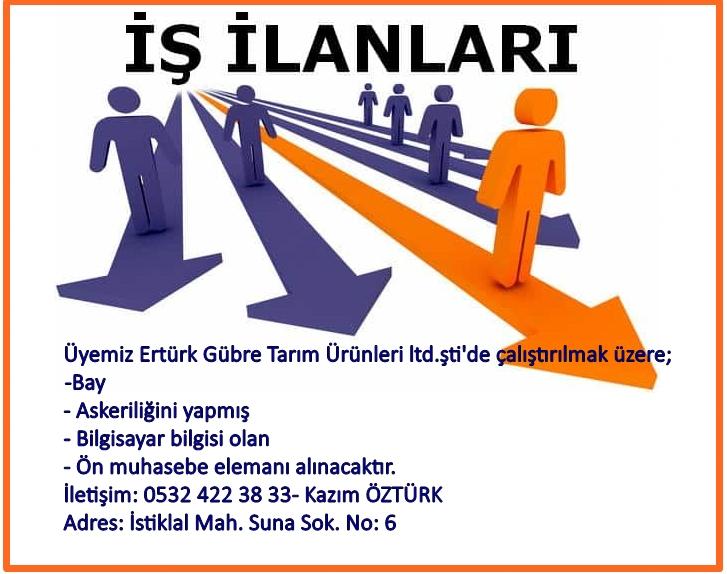 ertürk eleman ilanı