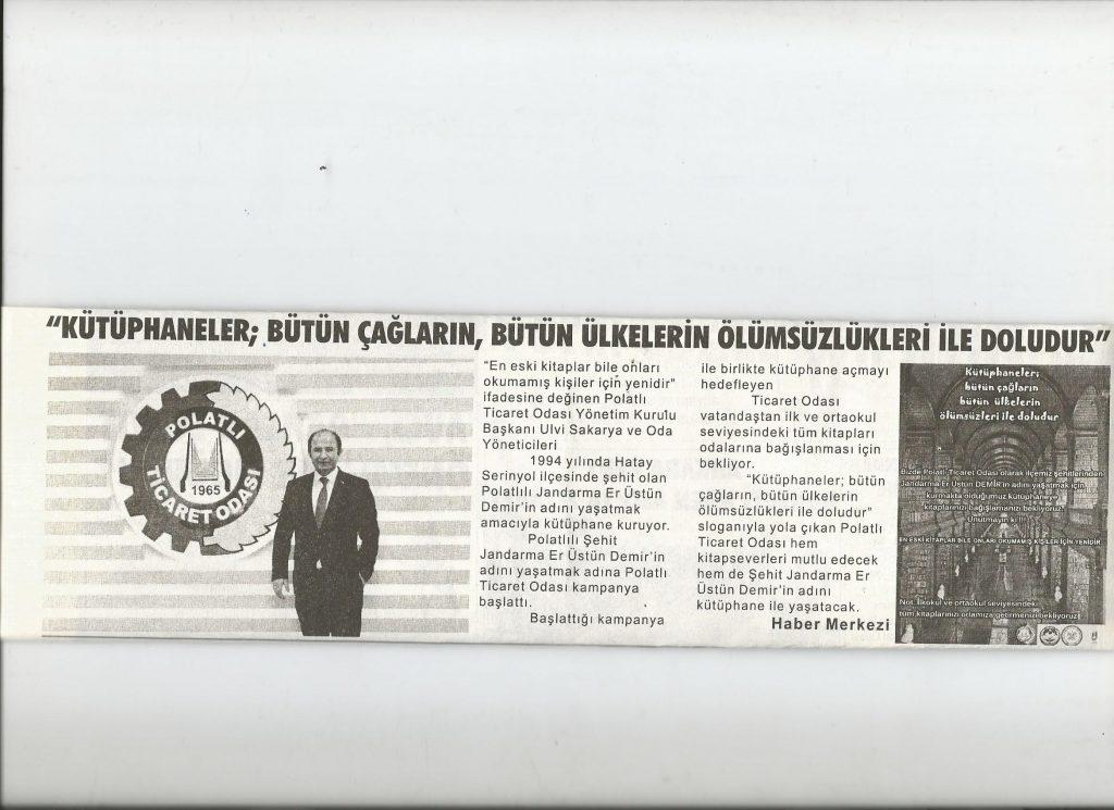 20.01.2020- İstiklal Gazetesi- KÜTÜPHANELER, BÜTÜN ÇAĞLARIN BÜTÜN ÜLKELERİN ÖLÜMSÜZLERİ İLE DOLUDUR