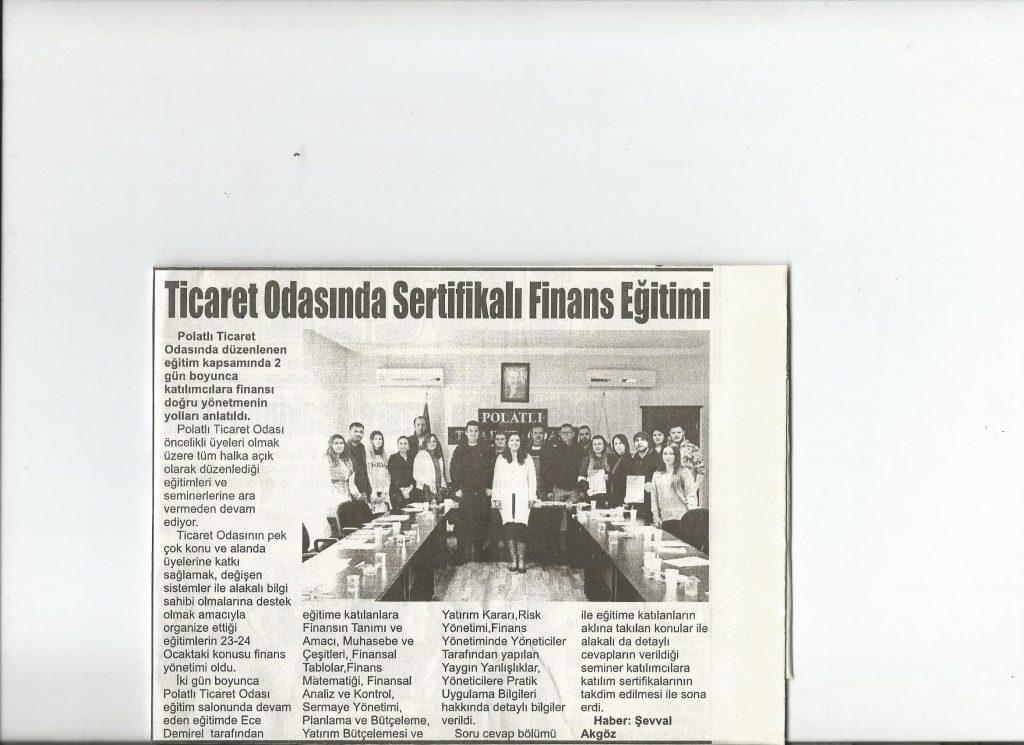 28.01.2020- İstiklal - TİCARET ODASINDA SERTİFİKALI FİNANS EĞİTİMİ