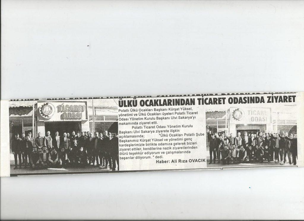 20.02.2020- Duatepe- ÜLKÜ OCAKLARINDAN TİCARET ODASINA ZİYARET
