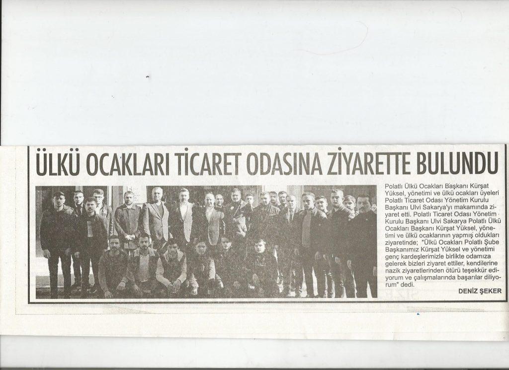 20.02.2020- Polatlı Postası- ÜLKÜ OCAKLARI TİCARET ODASINI ZİYARET ETTİ