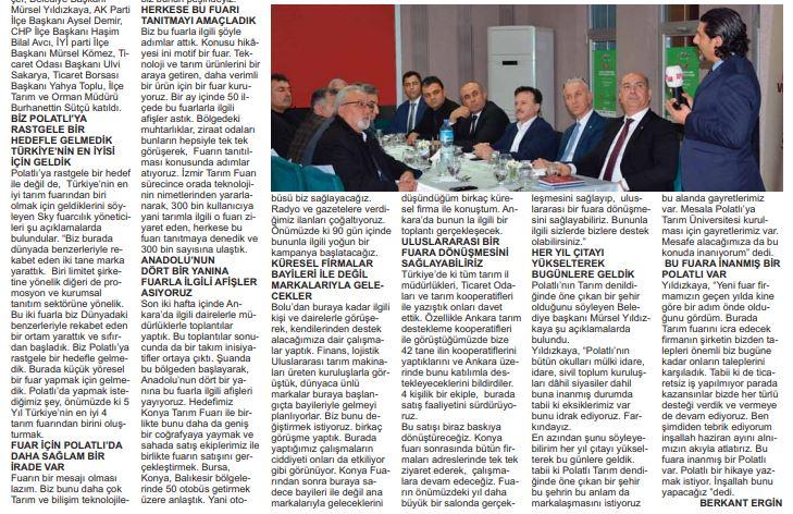 24.02.2020- Polatlı Postası- TARIM FUARI PAYDAŞLARI YEMEKTE BULUŞTU -2