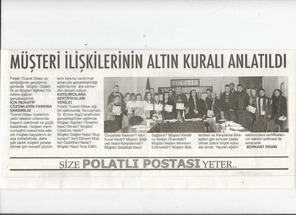 27.02.2020- Polatlı Postası