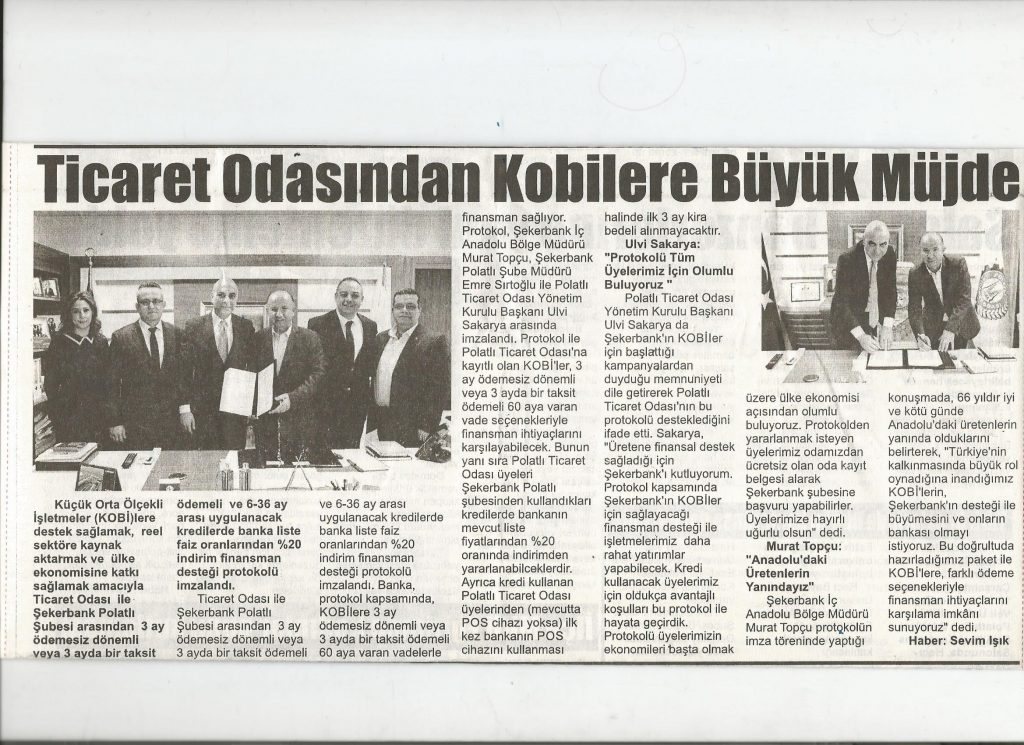 11.03.2020- İstiklal Gazetesi- TİCARET ODASINDAN KOBİLERE MÜJDE