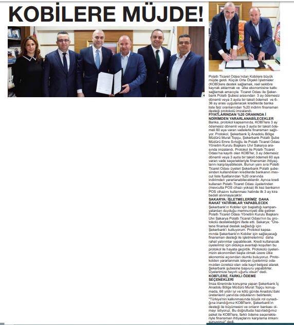 11.03.2020- Polatlı Postası- KOBİLERE MÜJDE