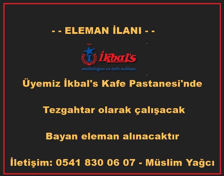 İKBALS ELEMAN İLANI