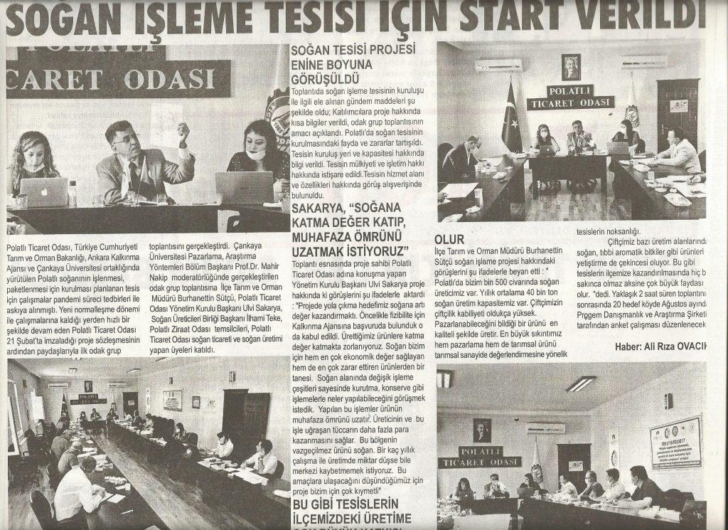 29.06.2020- Duatepe Gazetesi- SOĞAN İŞLEME TESİSİ İÇİN START VERİLDİ