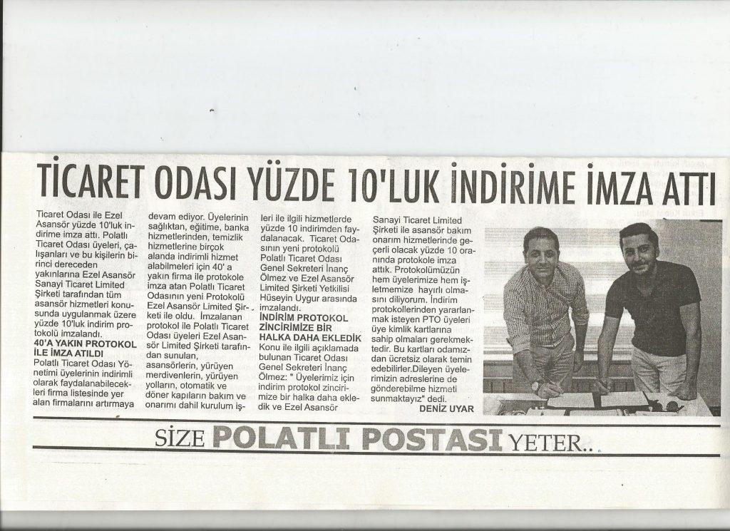01.07.2020 Polatlı Postası- TİCARET ODASI YÜZDE 10'LUK İNDİRİME İMZA ATTI