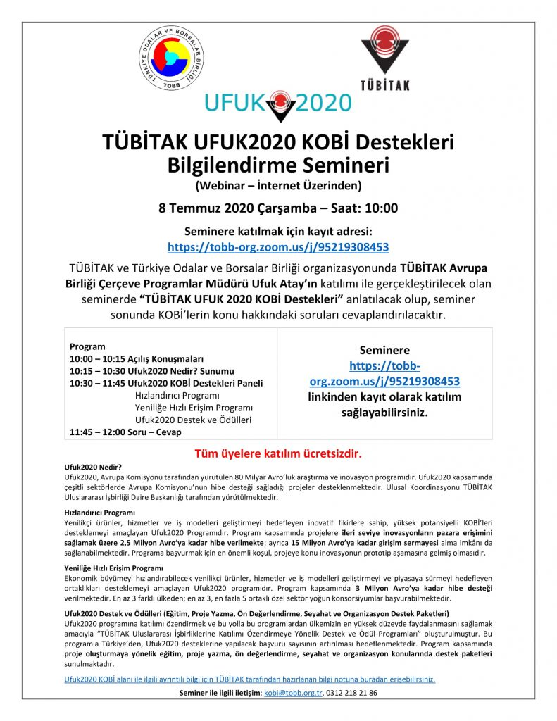 TÜBİTAK UFUK2020 KOBİ Destekleri Bilgilendirme Semineri_web-1