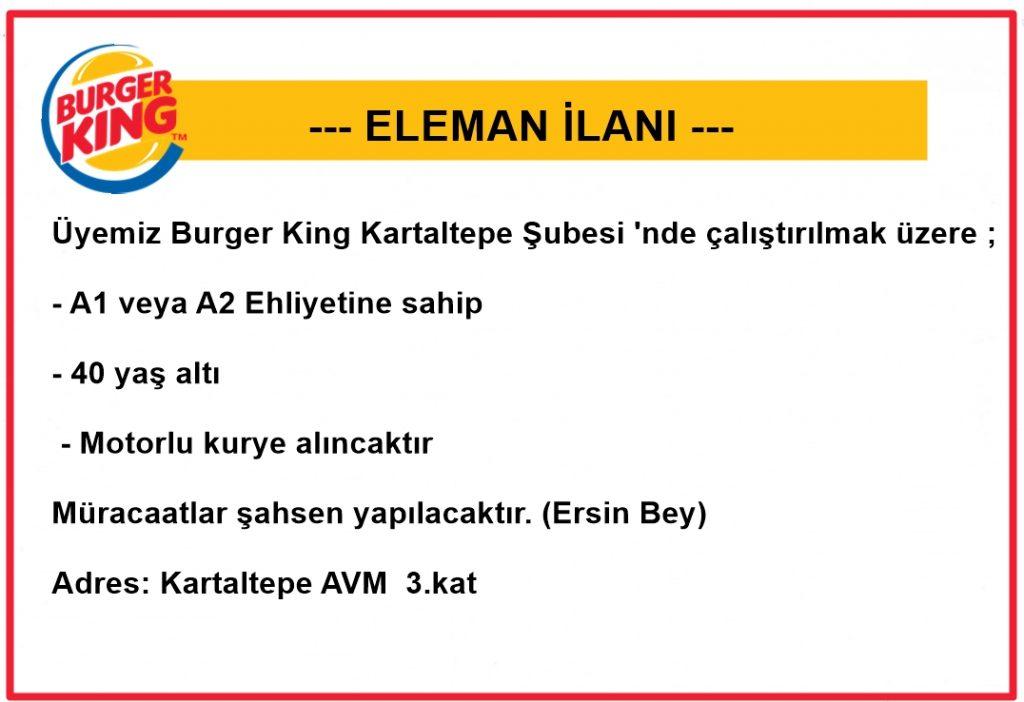 burger king eleman ilanı
