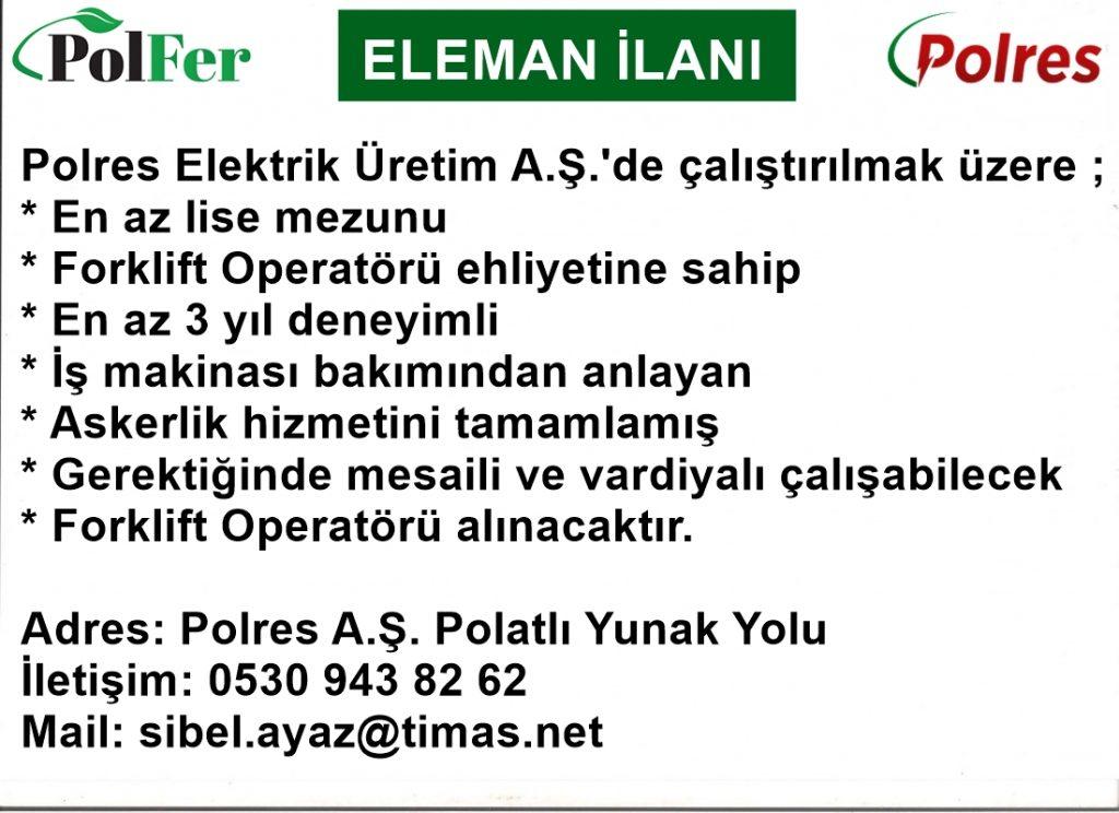 POLRES FORKLİFT