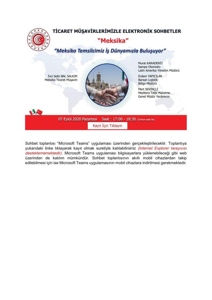Ticaret Müşavirlerimizle Elektronik Sohbetler- Meksika-2