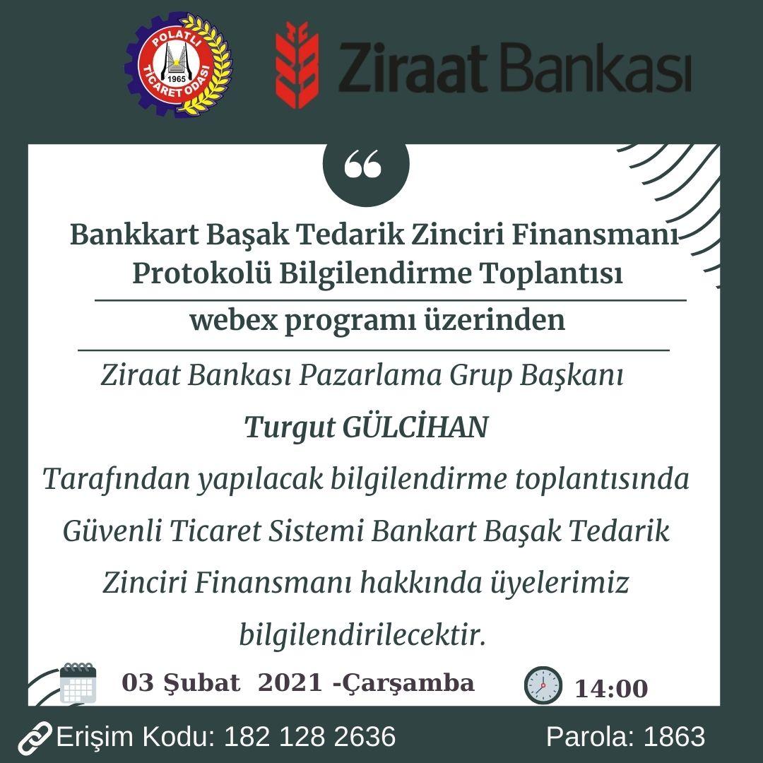 Ziraat Bankası Bankart Başak Tedarik Zinciri Finansmanı Hk.