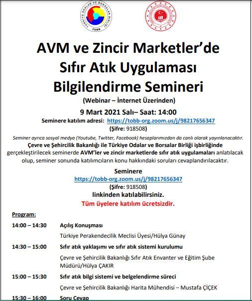 avm ve zincir marketler bilgilendirme semineri