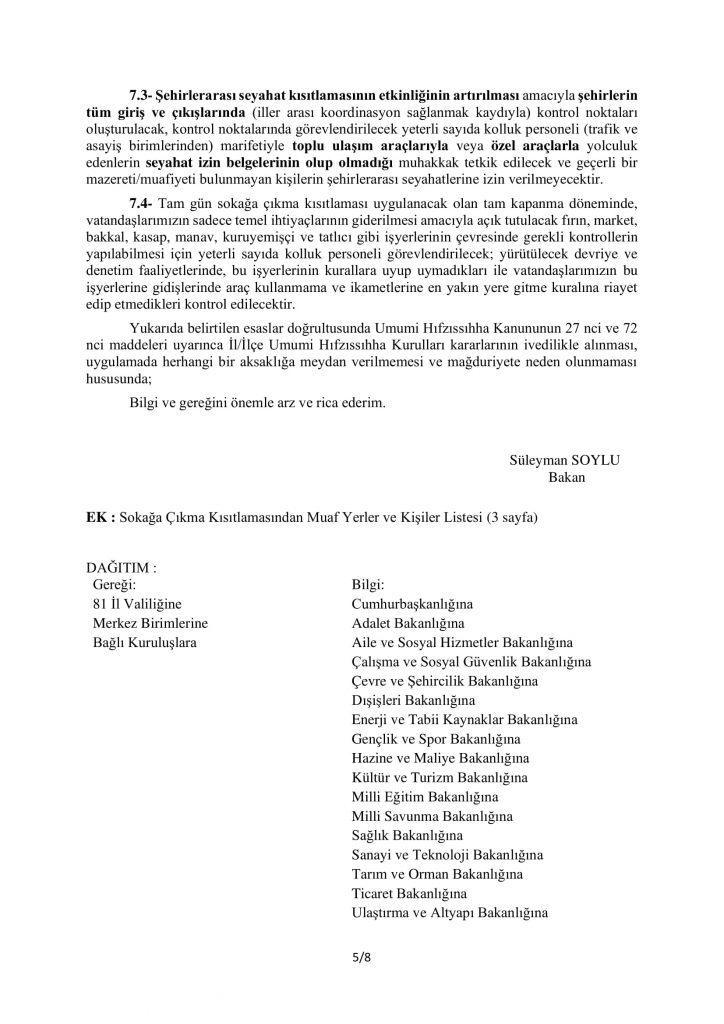 TAM KAPANMA TEDBİRLERİ-5
