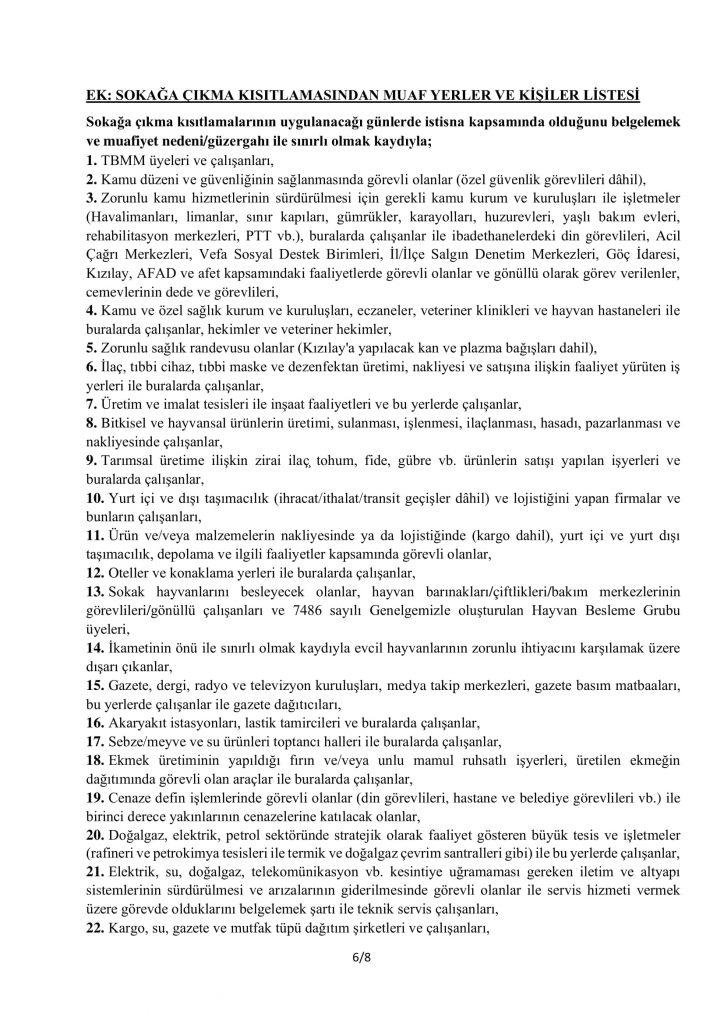 TAM KAPANMA TEDBİRLERİ-6