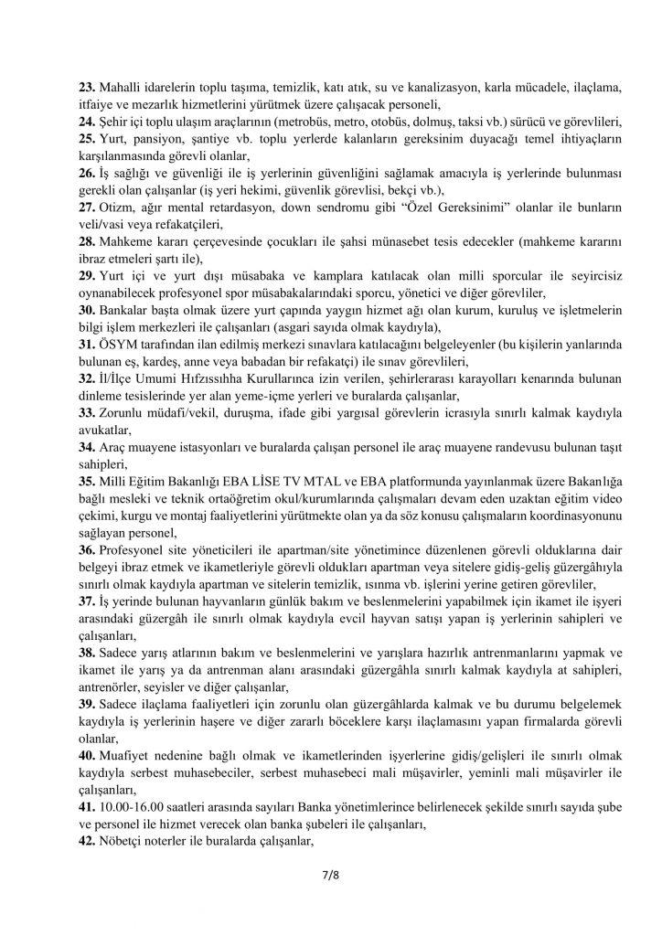 TAM KAPANMA TEDBİRLERİ-7