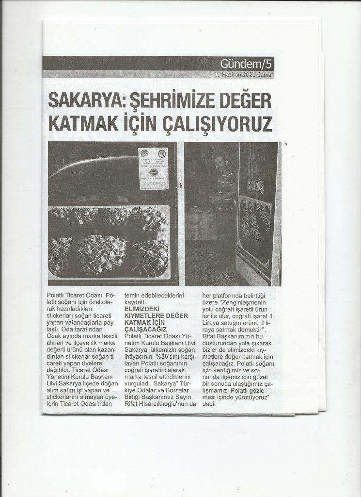 11.06.2021- Polatlı Postası- SAKARYA ŞEHRİMİZE DEĞER KATMAK İÇİN ÇALIŞIYORUZ