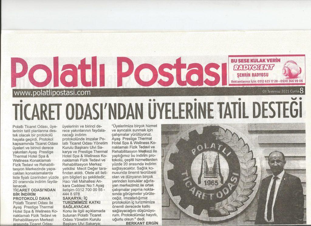 09.07.2021- Polatlı Postası-TİCARET ODASI'NDAN ÜYELERİNE TATİL DESTEĞİ
