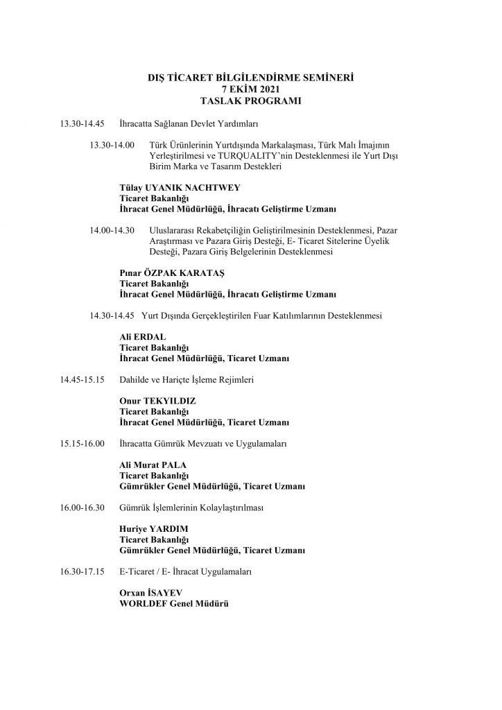 Dış Ticaret Bilgilendirme Semineri-2