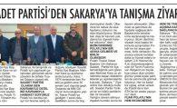 SAADET PARTİSİ'NDEN SAKARYA'YA TANIŞMA ZİYARETİ