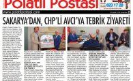 SAKARYA'DAN CHP'Lİ AVCI'YA TEBRİK ZİYARETİ