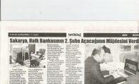 BAŞKAN SAKARYA, HALK BANKASI'NIN 2. ŞUBE AÇACAĞININ MÜJDESİNİ VERDİ