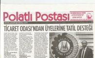 TİCARET ODASI'NDAN ÜYELERİNE TATİL DESTEĞİ