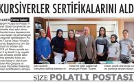 KURSİYERLER SERTİFİKALARINI ALDI