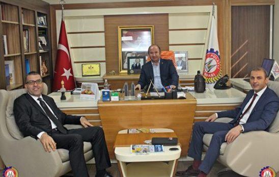 Yapı Kredi Bankası Polatlı Şube Müdürü Necmettin Toksöz ve Kürşat Sevinçel Yönetim Kurulu Başkanımız Ulvi Sakarya'yı Ziyaret Etti