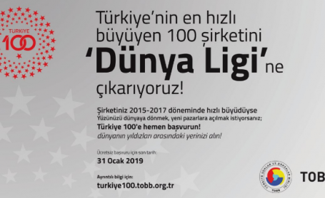 """TOBB tarafından TEPAV Destekleriyle Gerçekleştirilen """"Türkiye 100"""" Yarışmasının Bu Yıl 5. Başlıyor"""
