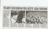 TİCARET ODASINDAN 800 AİLEYE GIDA YARDIMI