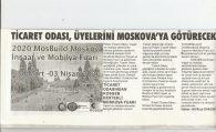 TİCARET ODASINDAN KOSGEB DESTEKLİ MOSKOVA FUARI