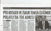 PTO KOSGEB VE İŞKUR TEMSİLCİLİĞİNDE POLATLI'DA TEK ADRES