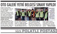 OTO GALERİ YETKİ BELGESİ SINAVI YAPILDI
