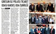 PTO İLE GİRESUN TSO ARASINDA KARDEŞ PROTOKOLÜ İMZALANDI