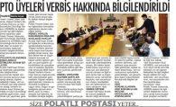 PTO ÜYELERİ KVKK VE VERBİS HAKKINDA BİLGİLENDİRİLDİ