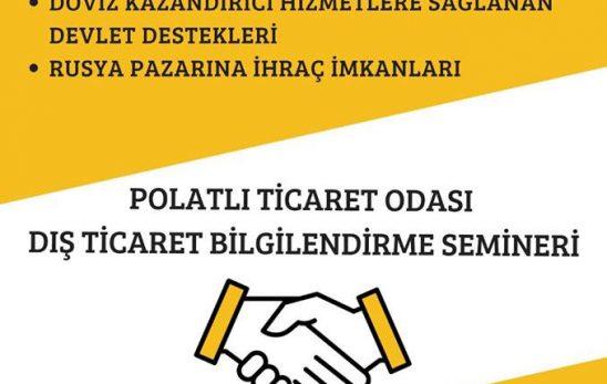 DIŞ TİCARET'TE DEVLET DESTEKLERİ EĞİTİMİNE KAYITLAR BAŞLADI