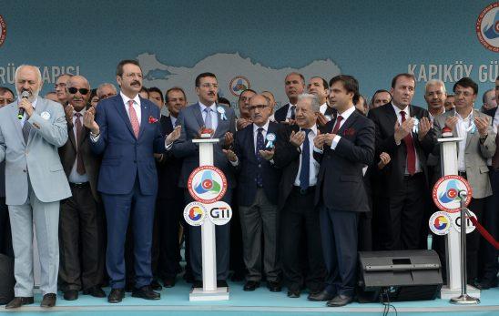 Başkan SAKARYA Kapıköy Gümrük Kapısı Temel Atma Törenine Katıldı