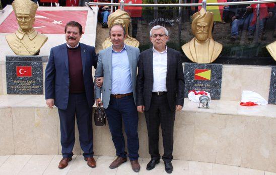 Meclis Başkanımız Erol Ünal ve Yönetim Kurulu Başkanımız Ulvi Sakarya Türk Büyükleri Büstlerinin açılışına katıldı