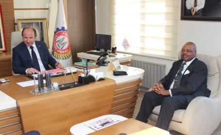 Ruanda Ankara Büyükelçisi Williams Nkurunziza Odamıza ziyarette bulundu