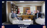 Şekerbank Polatlı şube Müdürü Emre Sırtoğlu, Başkan Sakarya'yı ziyaret etti.