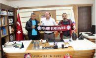 Polatlı Gençlik Gücü Spor Kulüp Başkanı ve Teknik Direktörü Ulvi Sakarya'yı ziyaret etti