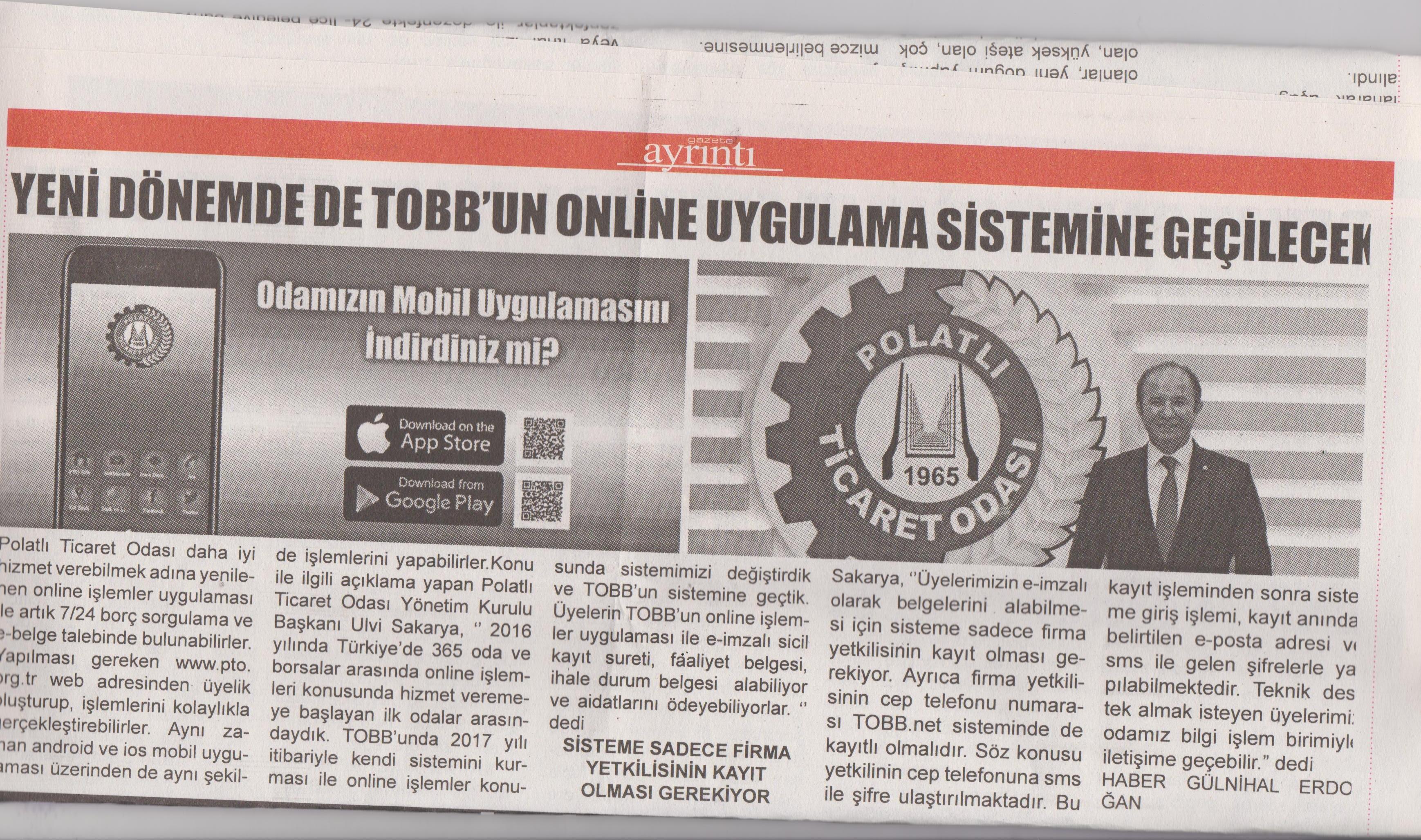 Ayrıntı Gazetesi - Online işlemleri 1. yılını doldurdu. (2)